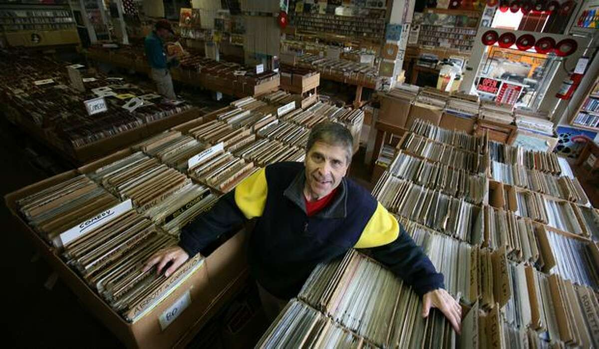 Dean Silverstone, owner of Wallingford record store Golden Oldies, shown in September 2007. Golden Oldies has been called one of the best record stores in America by U.S. News and World Report.