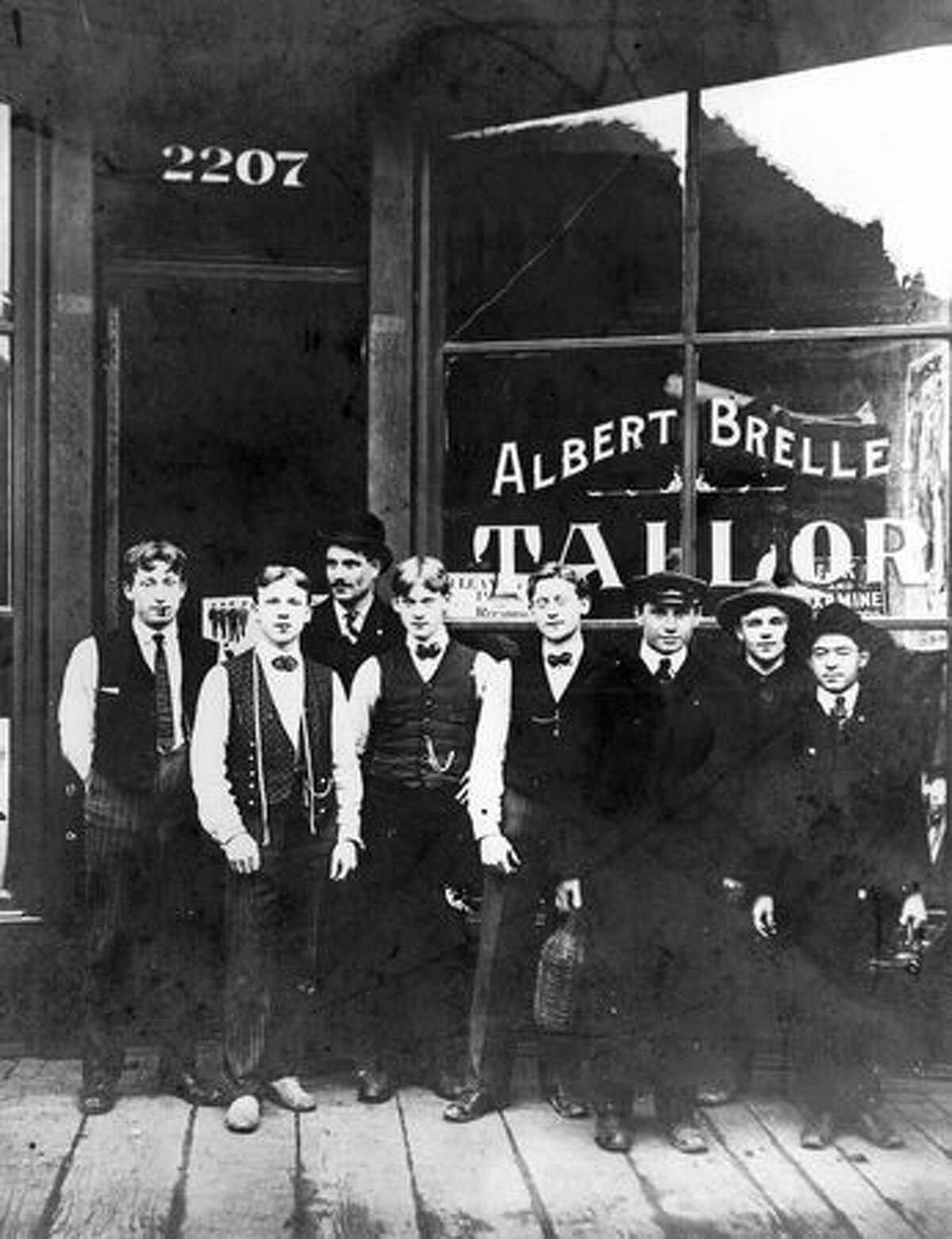 Brelle's Tailor shop at 2207 First Ave. Date unknown.