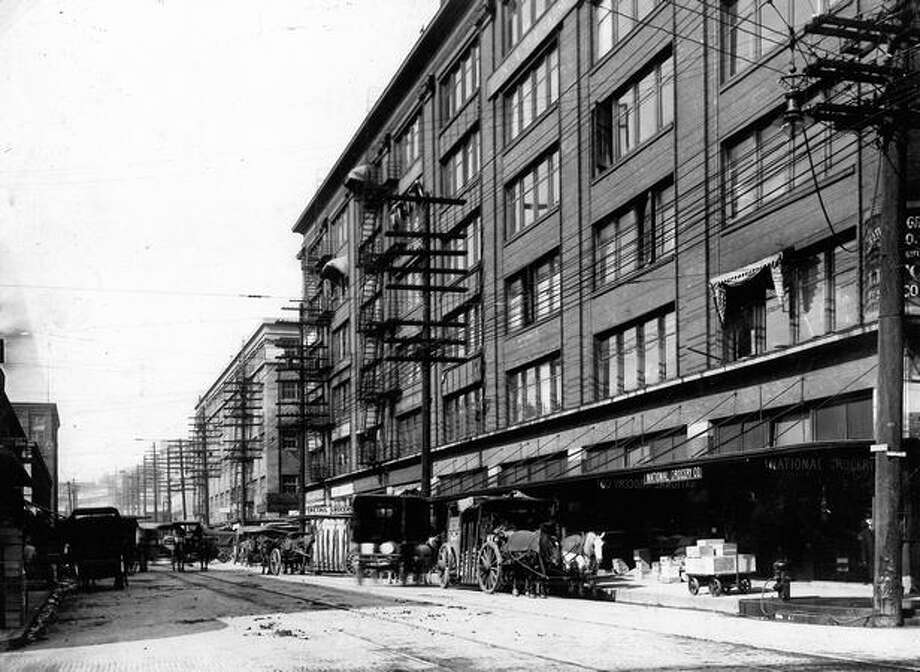 The National Grocery Co. in Seattle, 1913. Photo: P-I File