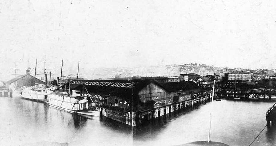 Seattle city dock, 1889. Photo: P-I File