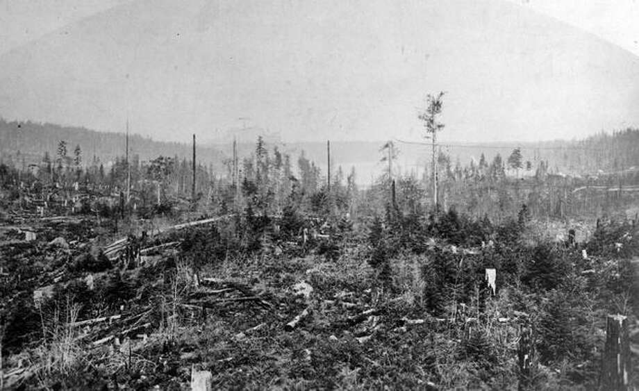 An undated view of Lake Washington from Denny's Hill, which was flattened. Photo: P-I File