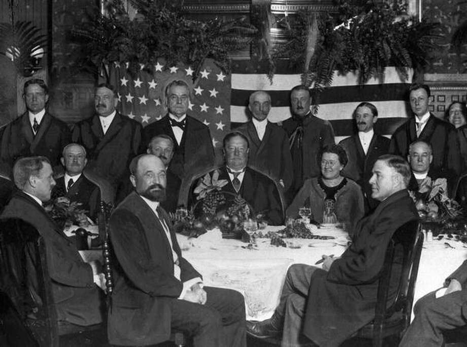 Mayor George W. Dilling was host at this breakfast for visiting President William Howard Taft in 1911. Photo: P-I File