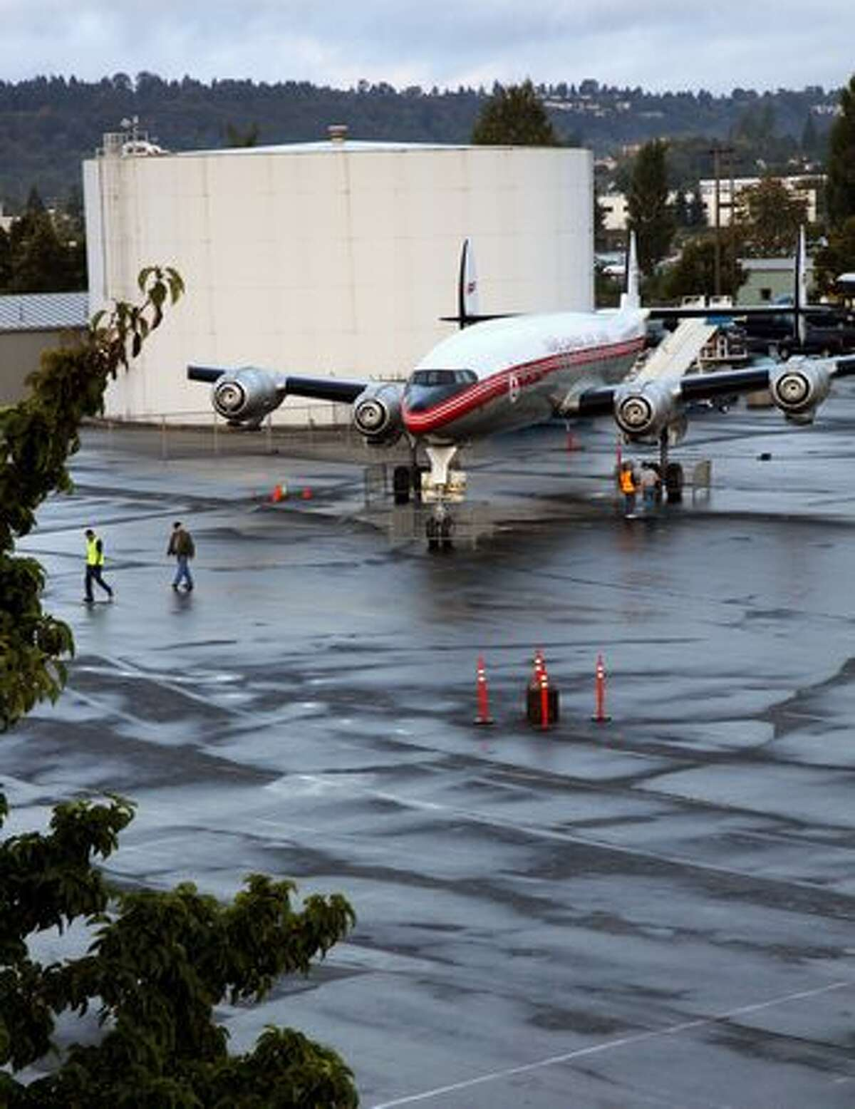 The Seattle Museum of Flight's Lockheed 1049G Super Constellation at its new home in the museum's Airpark. (Ted Huetter/Museum of Flight)