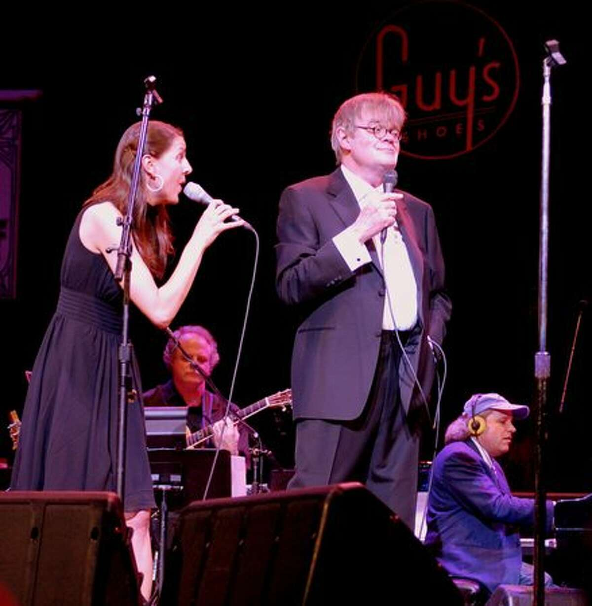 Garrison Keillor and crew perform a live broadcast of