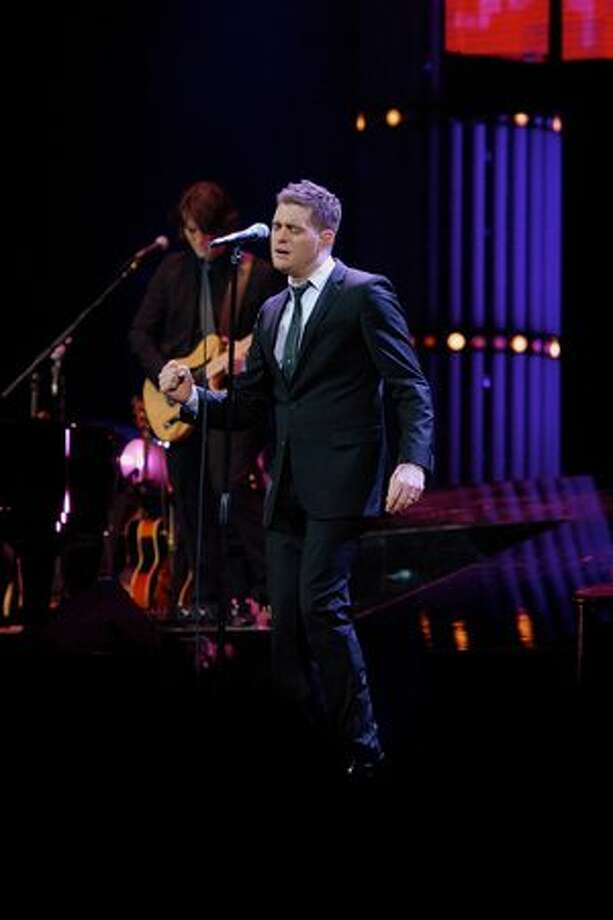Canadian singer and songwriter Michael Bublé performing at Key Arena on April 3, 2010. Photo: Kam Martin, Special To Seattlepi.com