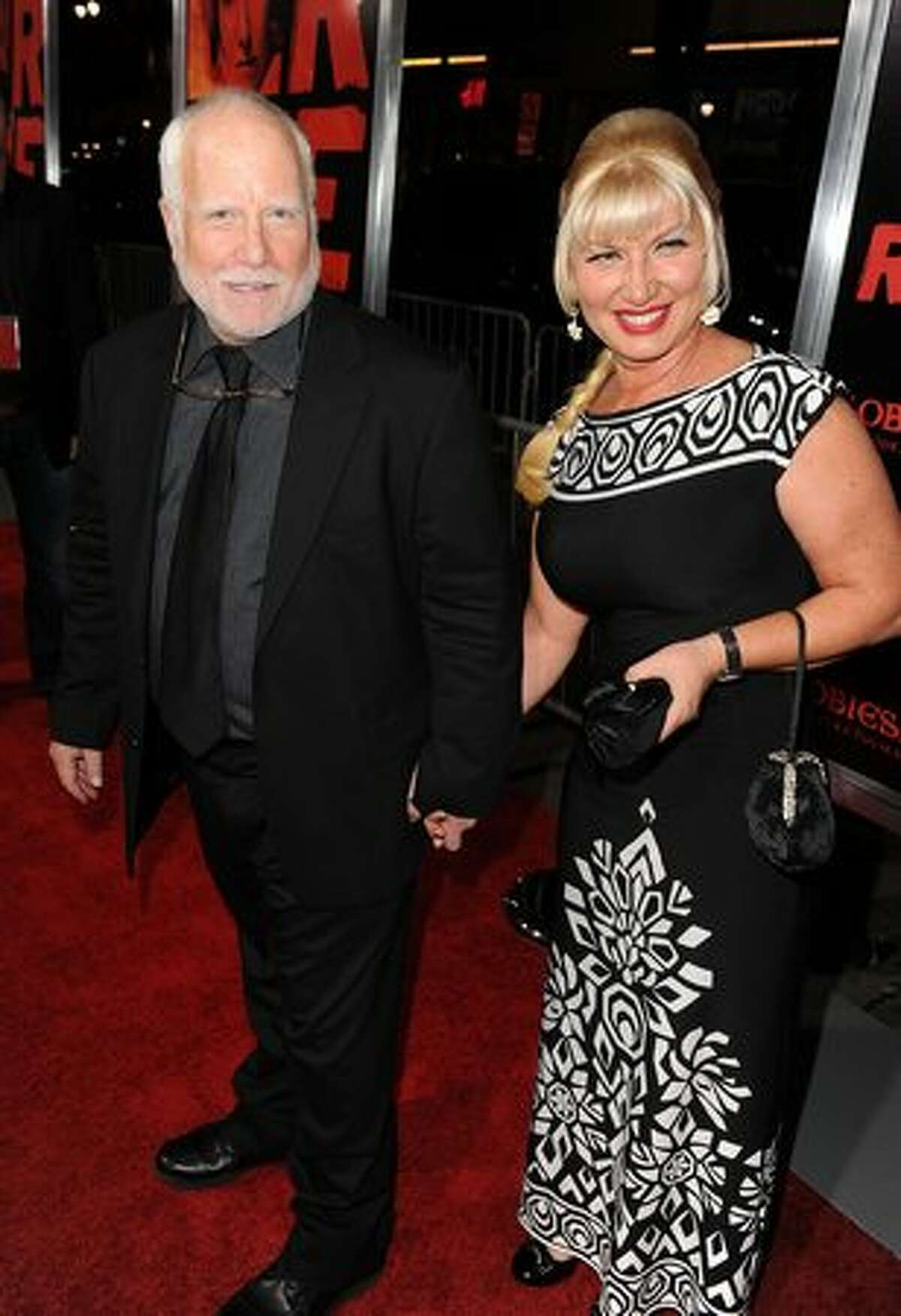 Actor Richard Dreyfuss and Svetlana Erokhin arrive at a special screening of Summit Entertainment's