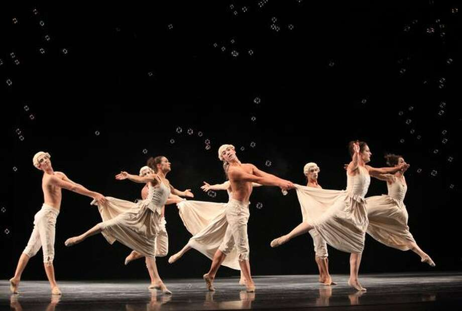 "Pacific Northwest Ballet dancers perform ""Sechs Tanze"" (Six Dances) during a dress rehearsal on Thursday, September 23. Photo: Joshua Trujillo, Seattlepi.com"