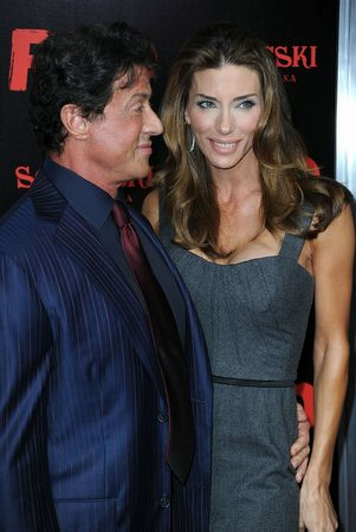 Actor Sylvester Stallone and wife Jennifer Flavin arrives at a special screening of Summit Entertainment's 'RED' at Grauman's Chinese Theatre in Hollywood, California.