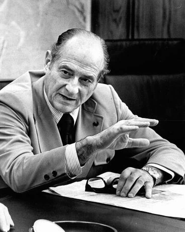 Gov. Al Rosellini, Oct. 21, 1972. Photo: P-I File