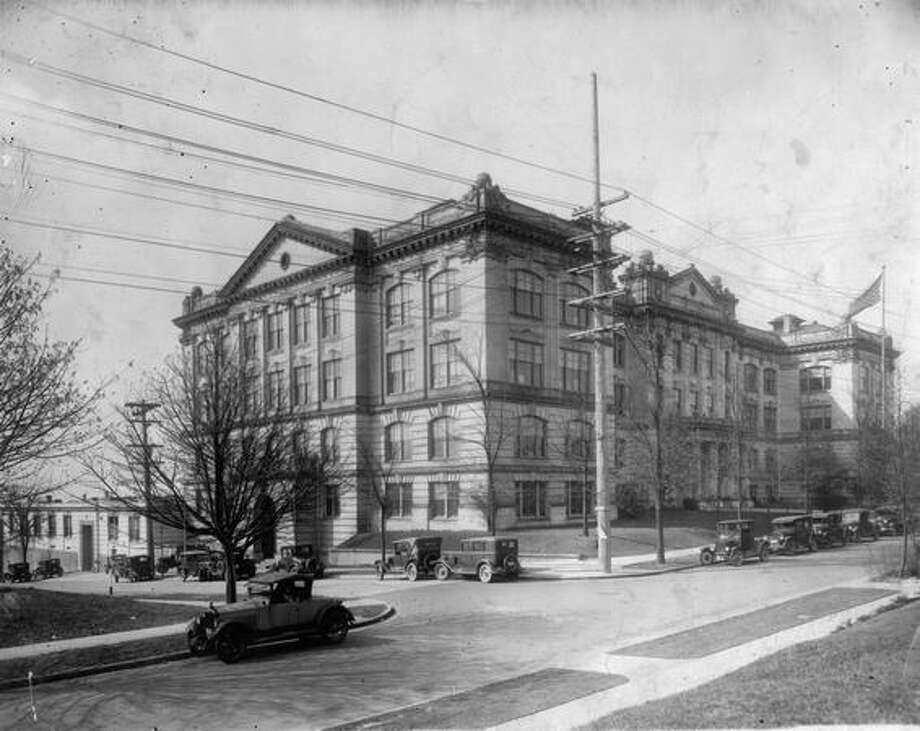 An undated photo of Queen Anne High School. Photo: P-I File