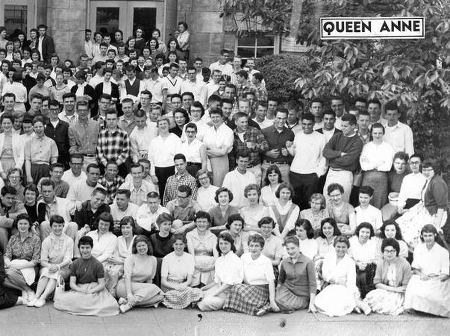 Students at Queen Anne High School, May 1958. Photo: P-I File
