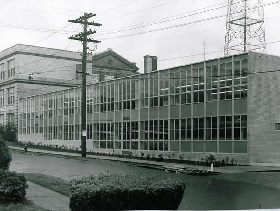 The November 1955 photo caption read: The new addition to Queen Anne High School. Photo: P-I File