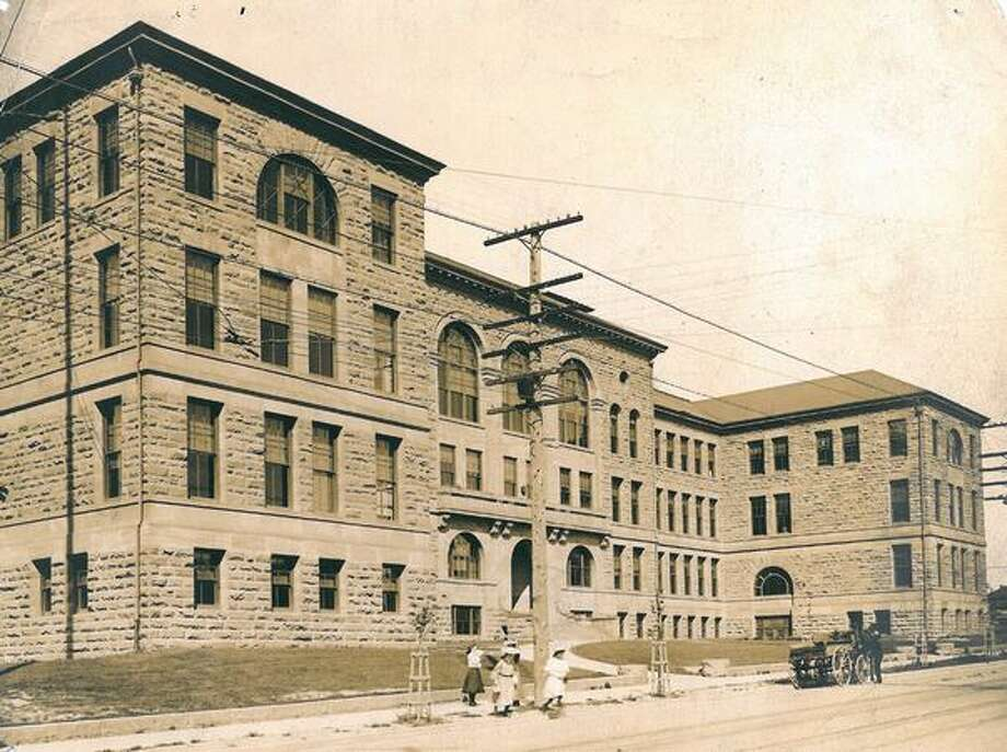 An early, undated photo of Broadway High School. Photo: P-I File