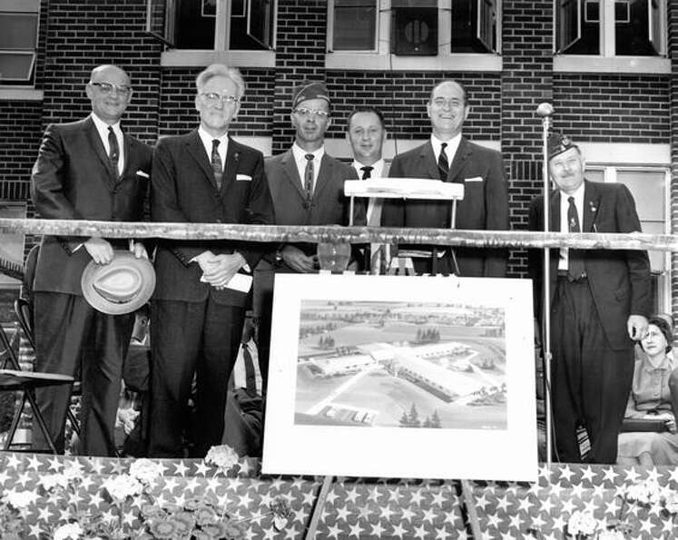 Gov. Albert D. Rosellini and others involved in planning for the 1962 World's Fair, Sept. 13, 1960.