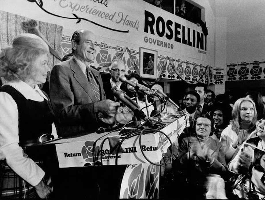 Al Rosellini's campaign headquarters, November 1972. Photo: P-I File