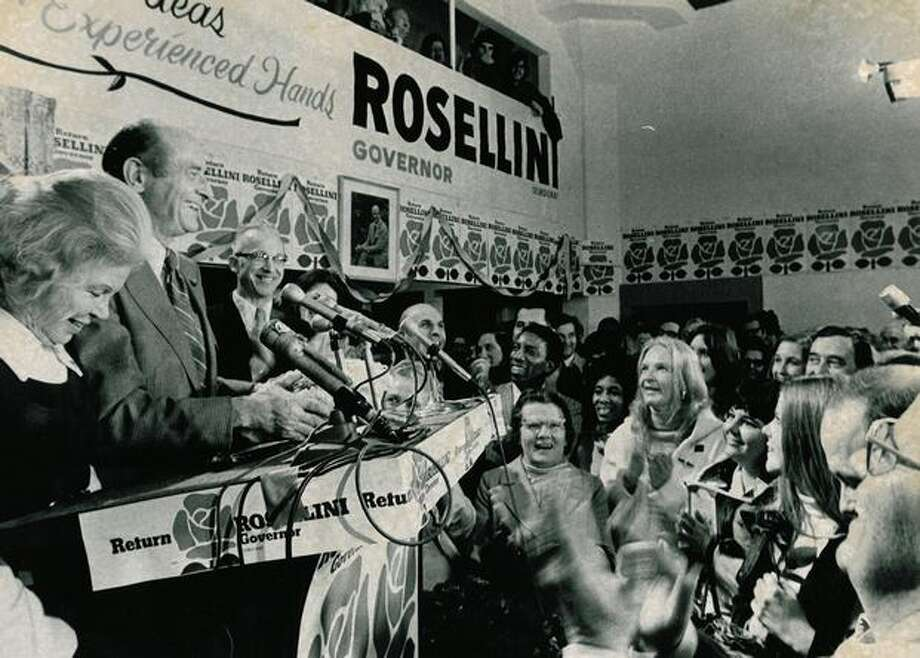 Al Rosellini's campaign headquarters, November 1972. Photo: P-I File