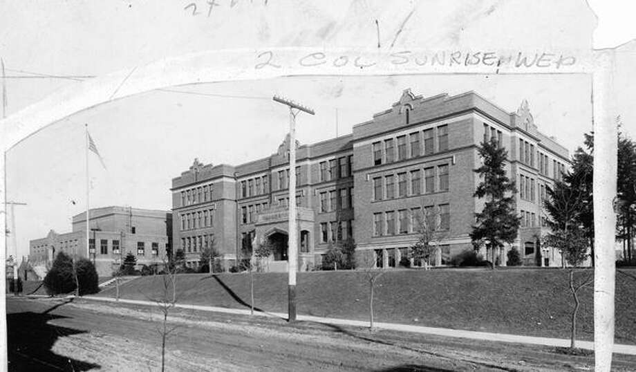 An early, undated photo of Lincoln High School. Photo: P-I File