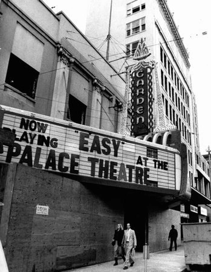 The Garden Theater, shown in October 1979, added neon in 1929. Photo: P-I File
