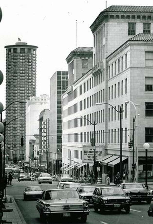 The Fifth Avenue Theater and the Skinner Building encompassing it, were nominated as historic city landmarks in 1978. Photo: P-I File