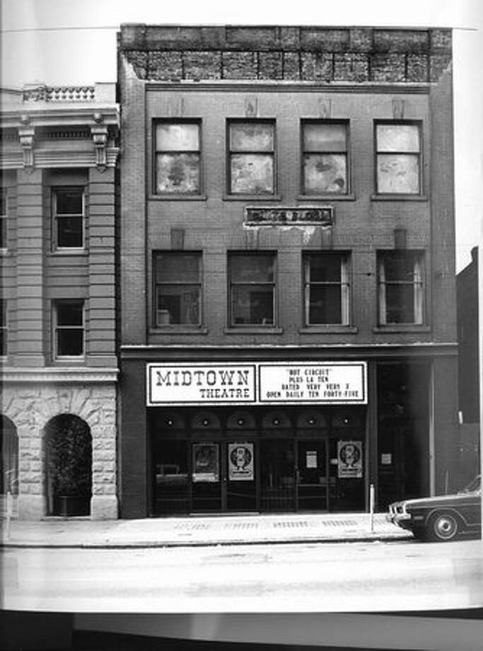 The Midtown Theatre near the Pike Place Market, 1972. (Seattle Municipal Archives) Photo: P-I File
