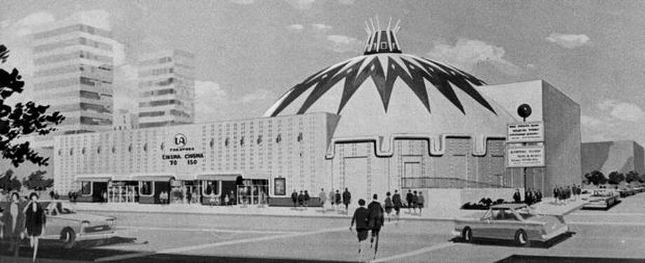 Seattle's first twin theater, built in 1969 for United Artists. Photo: P-I File