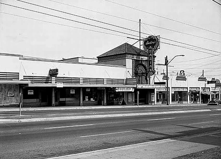 The Arabian Theater in the 7600 block of Aurora Avenue North shown in July 1956 after it closed. The building is now owned by the Saint Germain Foundation. Read more here. Seattlepi.com/MOHAI) Photo: P-I File