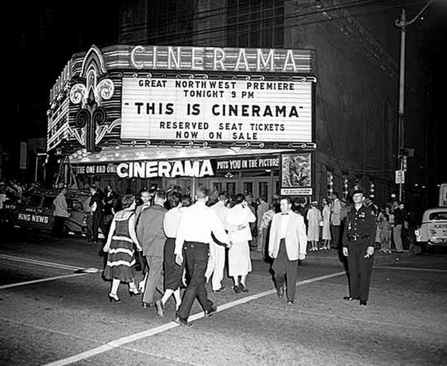 Cinerama at the Paramount Theater, 1956. (Seattlepi.com/MOHAI) Photo: P-I File