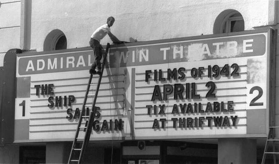 The Admiral Twin Theatre in West Seattle, exact date unknown. Photo: P-I File