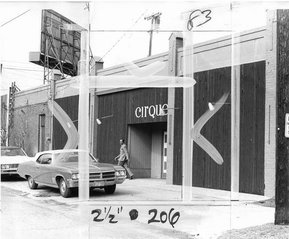 The Cirque Playhouse at 3406 E. Union, March 19, 1969. [NOTE: Marks were made by a former P-I photo editor.] Photo: P-I File