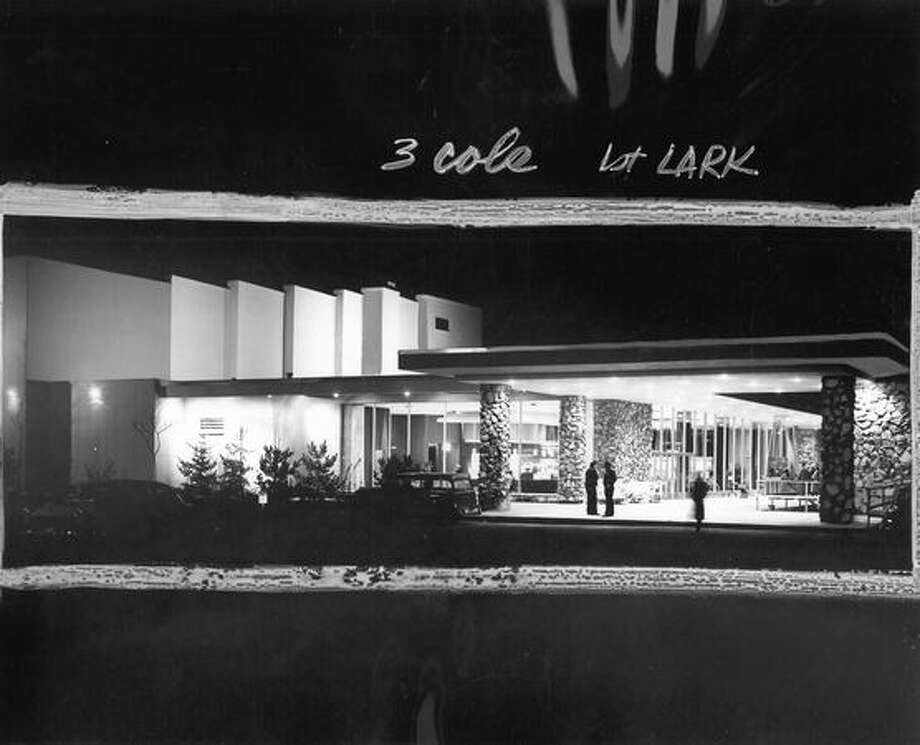 The Lewis and Clark Theater had it's grand opening on Nov. 25, 1956. [NOTE: Marks were made by a former P-I photo editor.] Photo: P-I File