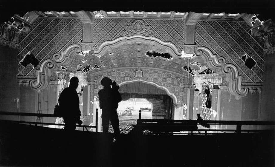 The Music Hall Theater being demolished, Jan. 19, 1992. Photo: P-I File