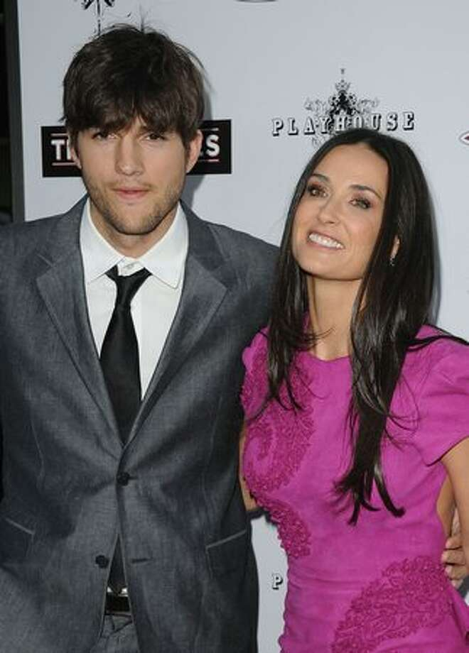 Actors Ashton Kutcher and Demi Moore arrive at Roadside Attractions & Echo Lake Entertainment's premiere of 'The Joneses' held at Arclight Hollywood Cinema on April 8, 2010 in Los Angeles, California. Photo: Getty Images
