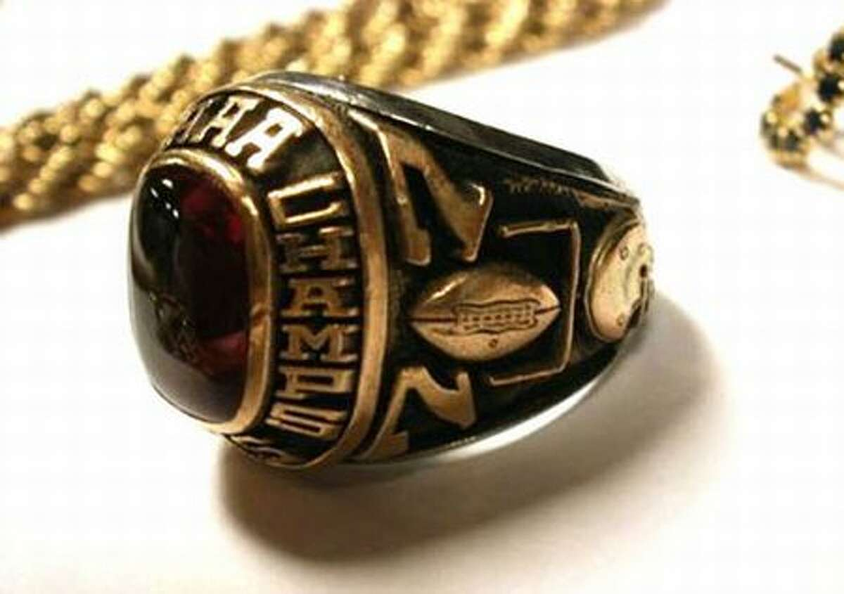 Investigators are trying to identify the owner of this 1977 AAA state football championship ring. (King County Sheriff's Office photo)