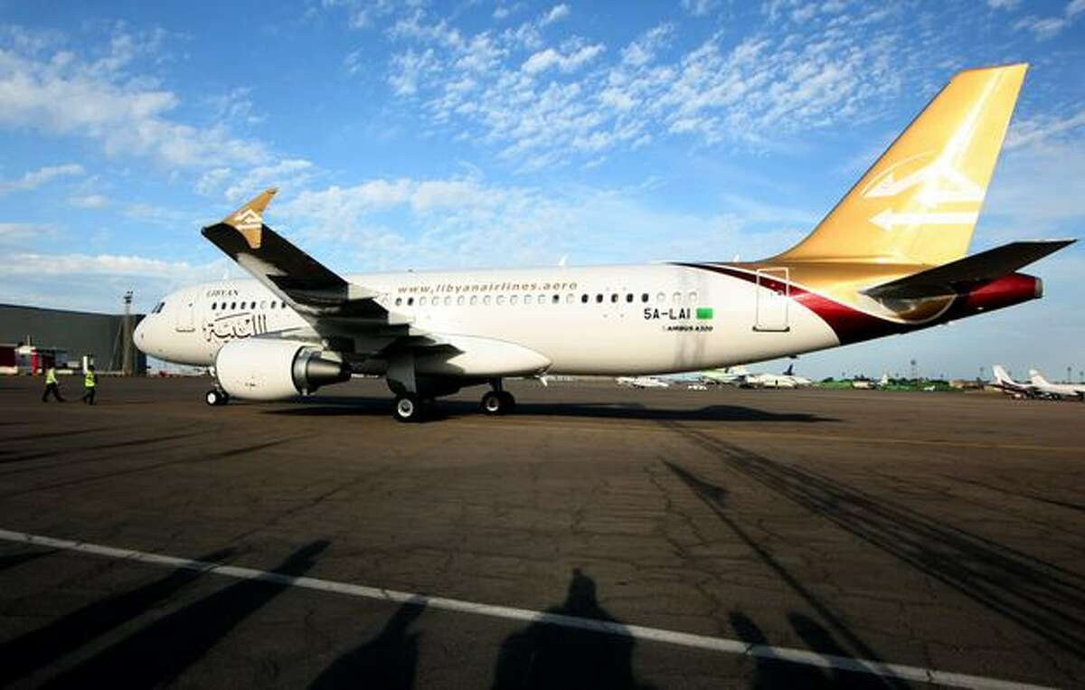 A new Airbus A320 delivered to Libyan Arab Airlines at Mitiga International Airport, in Tripoli.