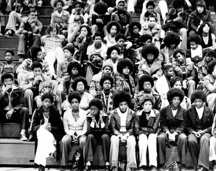 Garfield students, February 1977.