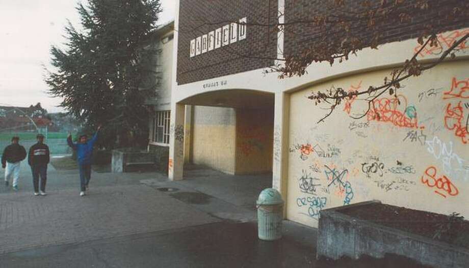 The April 1986 photo caption read: The principal of Seattle's Garfield High School says drug problems in the Puget Sound area are not limited to schools in black neighborhoods. Photo: P-I File