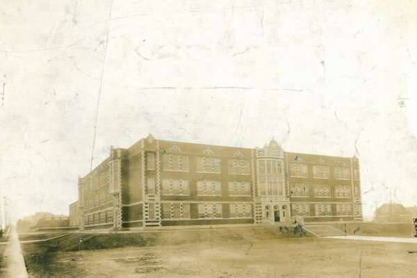 An early, undated photo of James A. Garfield High School, opened in 1923.