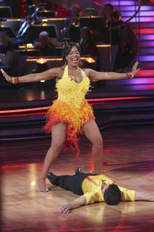 Actress Niecy Nash and her partner, professional dancer Louis van Amstel. Photo: ABC