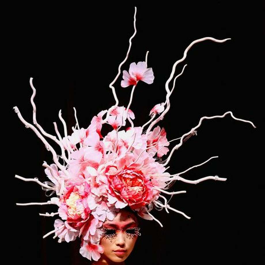 A model walks the runway during the EONFASHION AWARD 2011 China Fashion Week Make-up Styling Contest on the first day of China Fashion Week Spring/Summer 2011 in Beijing, China. Photo: Getty Images