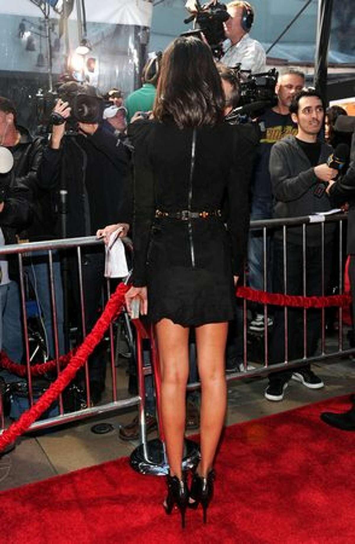 Actress Zoe Saldana arrives.