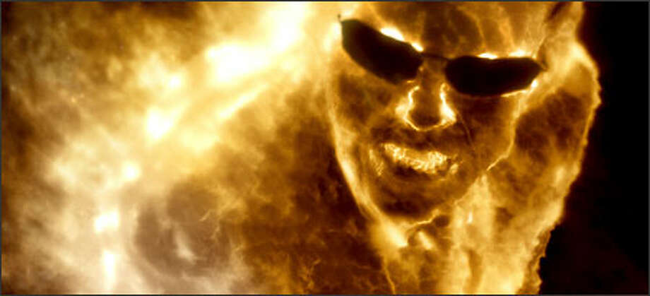 Agent Smith (Hugo Weaving) transformed in The Matrix Revolutions. Photo: Warner Brothers