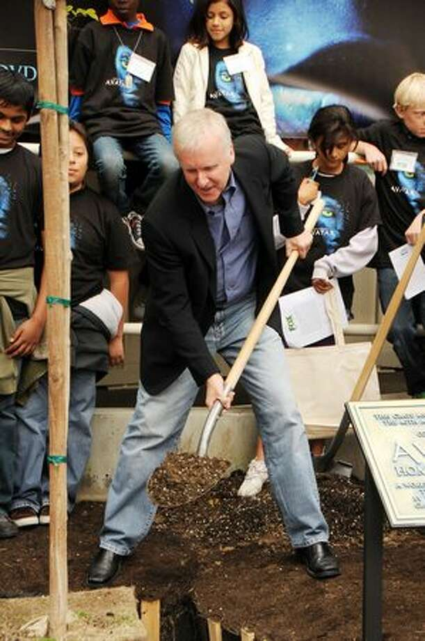 "Director James Cameron attends the 20th Century Fox & Earth Day Network's ""Avatar"" Tree Planting Event on April 22, 2010 in Los Angeles, California. Photo: Getty Images"