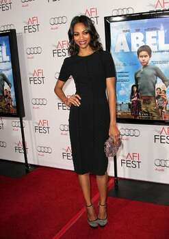 """Actress Zoe Saldana arrives at """"Abel"""" screening during AFI FEST 2010 presented by Audi at Grauman's Chinese Theatre in Hollywood, California. Photo: Getty Images"""