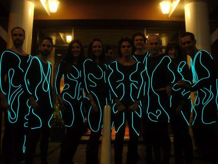 "Lights off picture of Belltowners as ""Tron"". (David Nelson)"