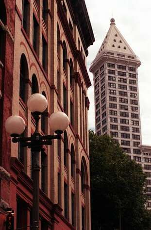 An undated photo of the historic Smith Tower. Photo: P-I File / P-I File