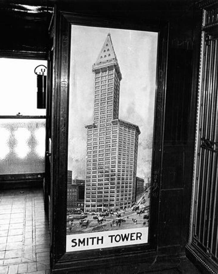 The inside of the Smith Tower, July 26, 1971. Photo: P-I File / P-I File
