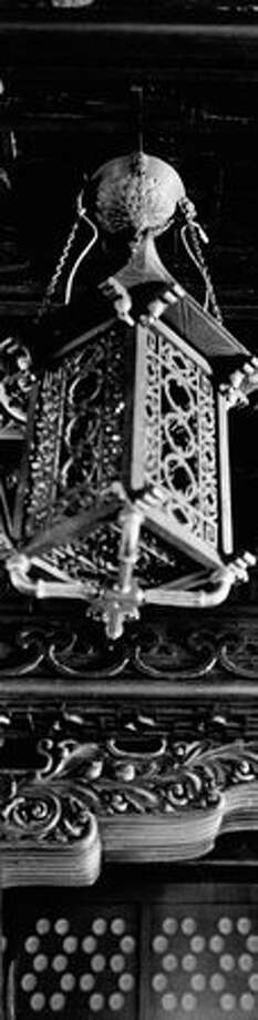 An ornate lantern in the Smith Tower Chinese Room, Jan. 2, 1974. Photo: P-I File / P-I File