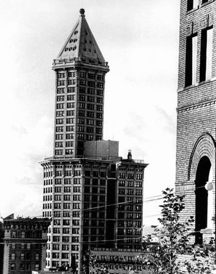 The Smith Tower, Sept. 13, 1976. Photo: P-I File / P-I File
