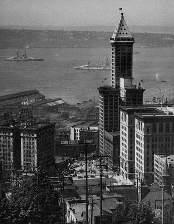 The original photo caption indicates this picture of the Smith Tower was taken July 9, 1931. Photo: P-I File / P-I File