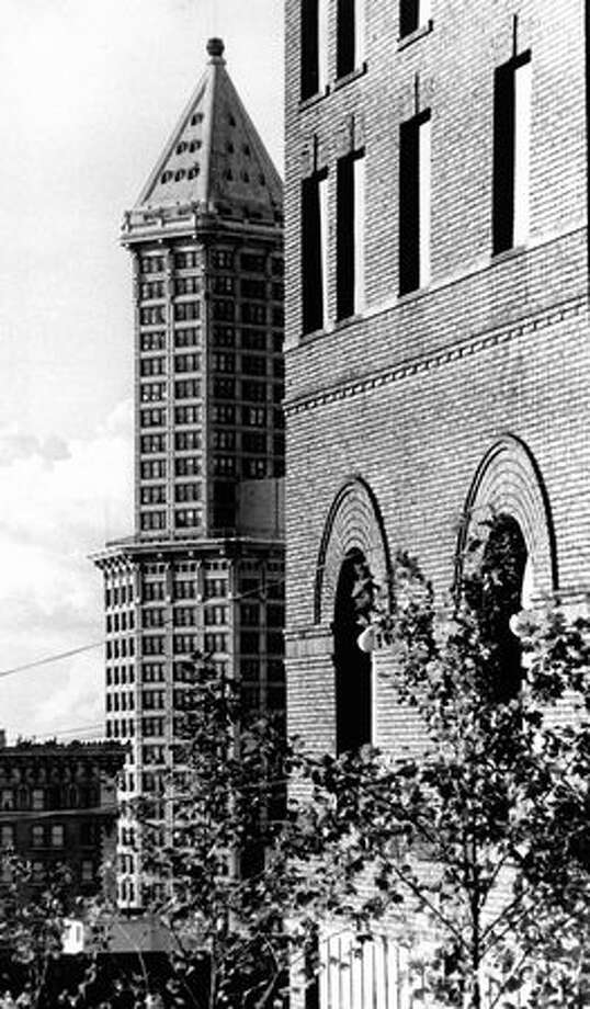The Smith Tower, Sept. 13, 1976. Photo: P-I File / P-I File